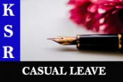 Casual Leave [Appendix VII]