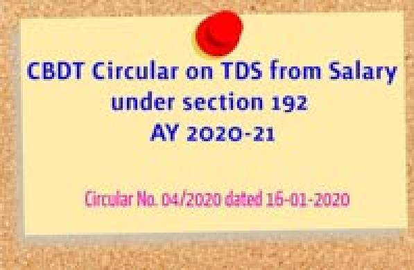 Tax Deduction at Source (TDS) - Circular